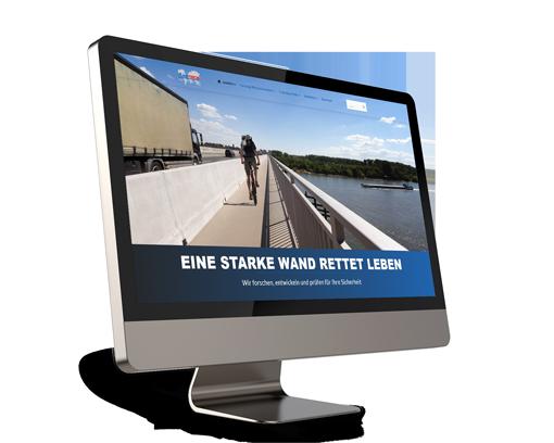 Webdesign für Linetech GmbH und Co. KG aus Köln, die Fahrzeugrückhaltesyteme entwickeln.