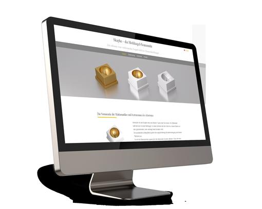 Webdesign für eine Sonnenuhr Skaphe.