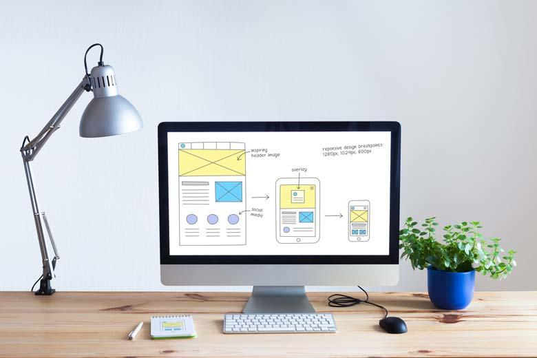 So kann Webseitengestaltung in der Planung aussehen.